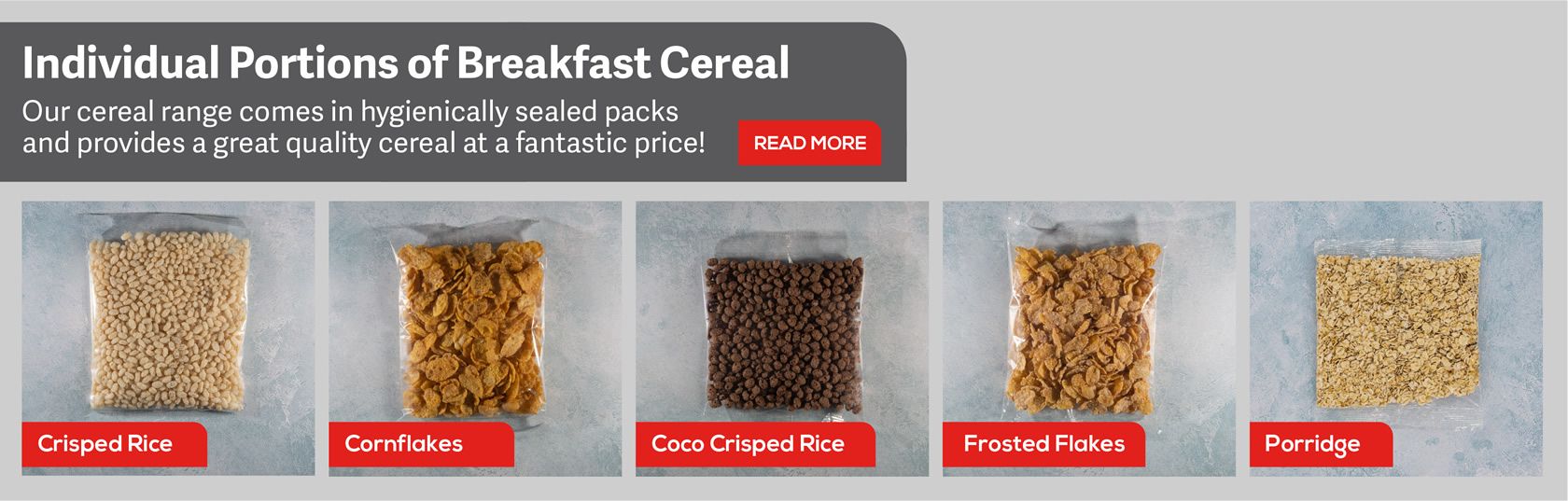 individual cereal portion packs